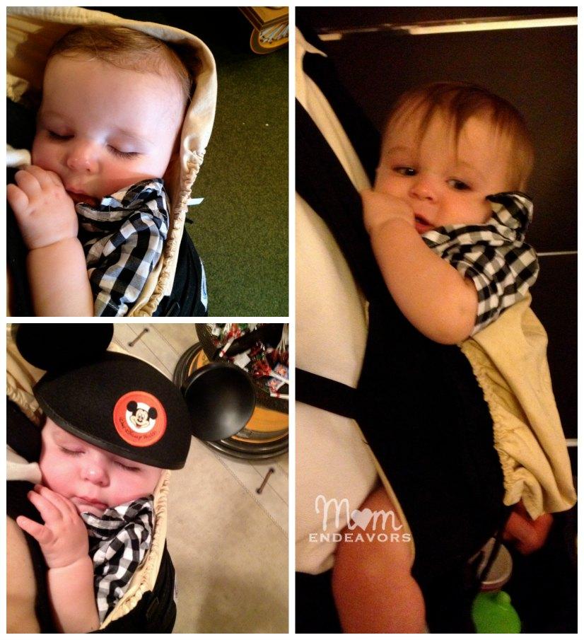 babywearing at Disney