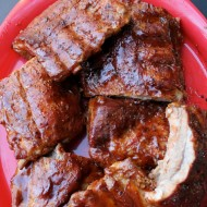 Beer Soaked & Smoked Baby Back Ribs {College Football Tailgate Party} #TailgatingwithPork
