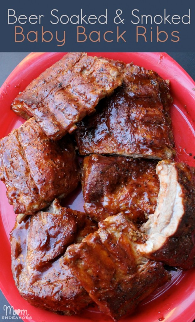 Beer Soaked & Smoked Baby Back Ribs {College Football Tailgate Party ...