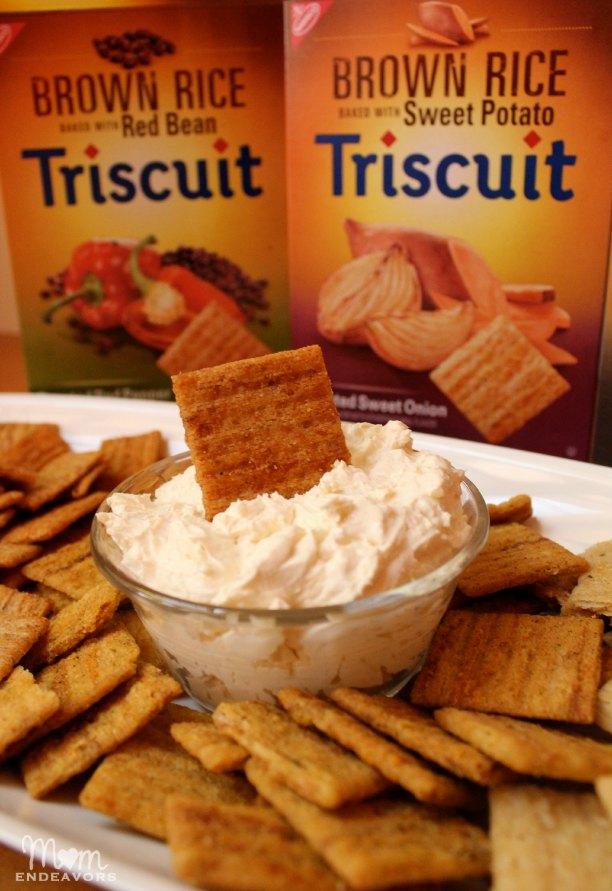 Cheese Dip & Cracker Appetizer