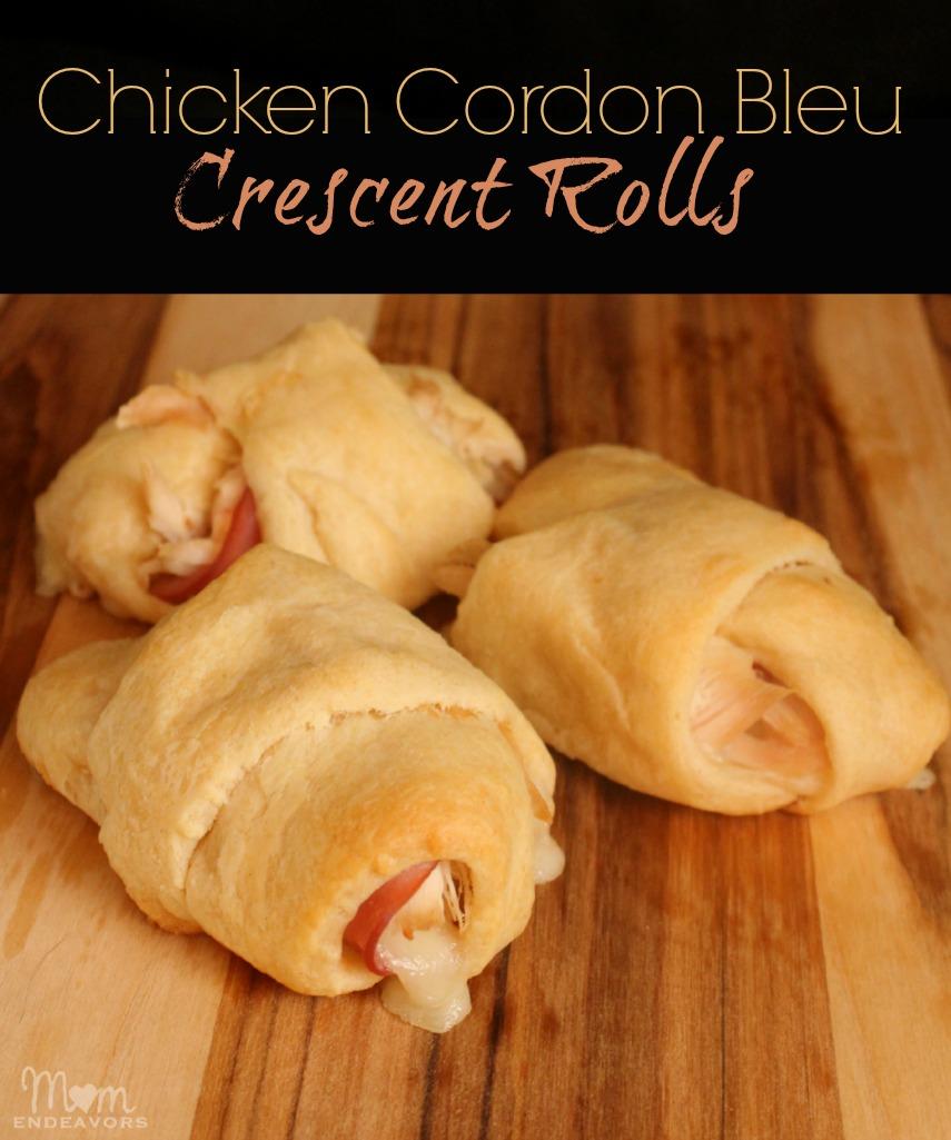 Chicken Cordon Bleu Crescent Rolls