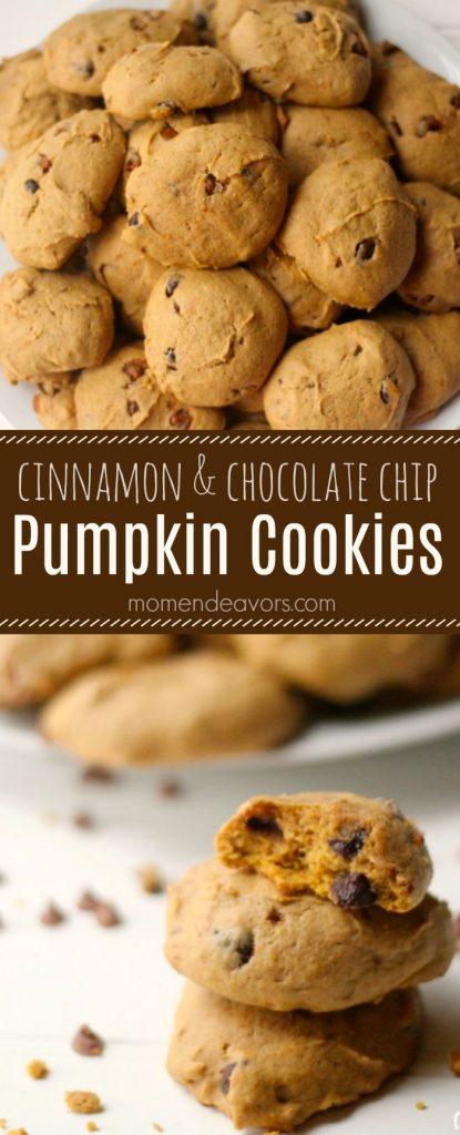 Pumpkin Cinnamon Chocolate Chip Cookies