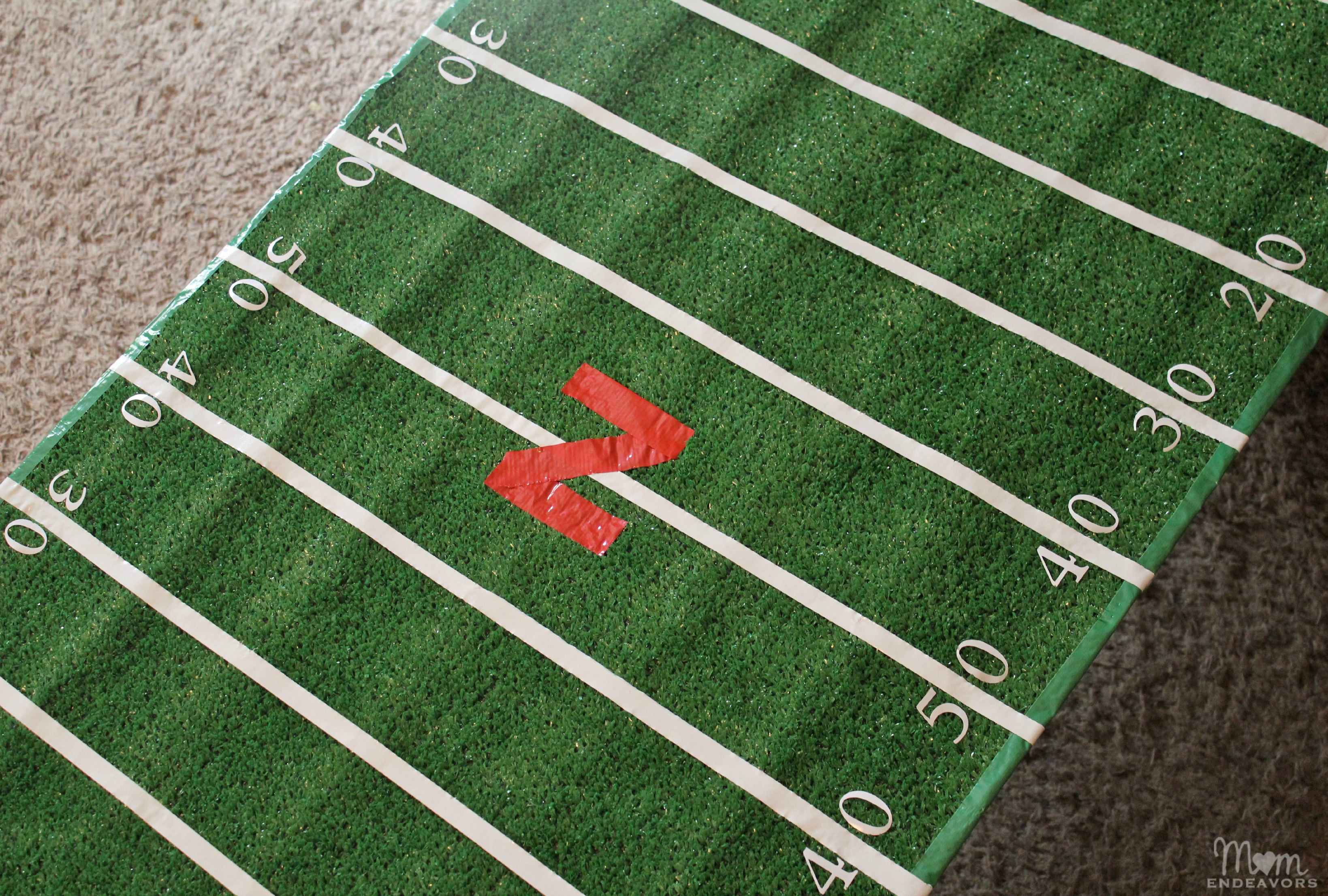 DIY Football Field Table Cover College Tailgate
