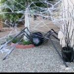 DIY Halloween Lawn Decor Giant Spider in Spiderweb