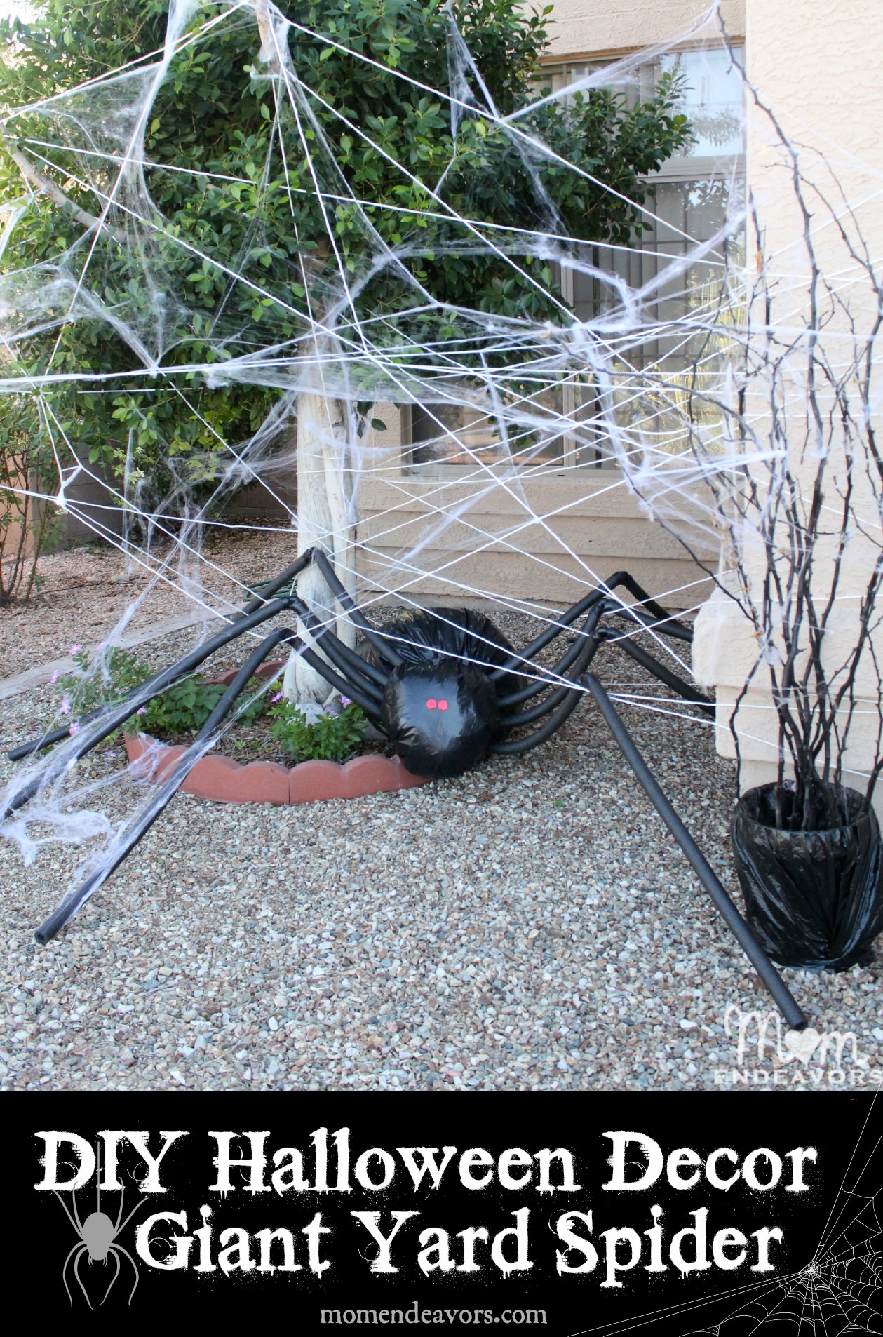 Halloween Yard Decorating Ideas Diy halloween yard decor giant spider in spiderweb diy halloween lawn decor giant spider in spiderweb workwithnaturefo
