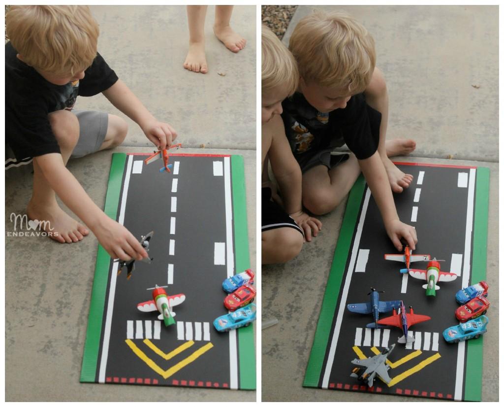 DIY Toy Plane Runway