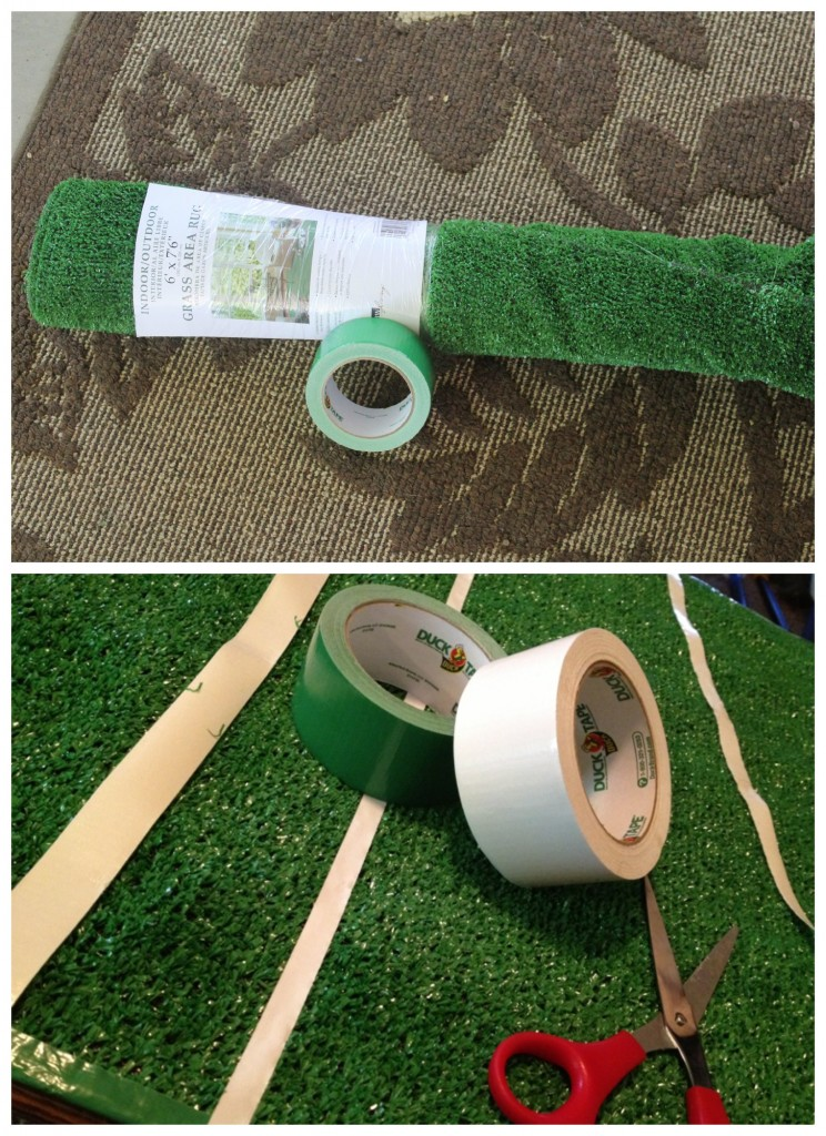 DIY football table cover supplies
