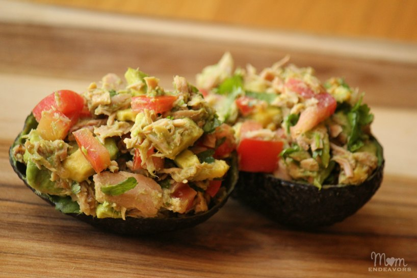Tuna Stuffed Avocados – An easy, fresh & healthy meal!