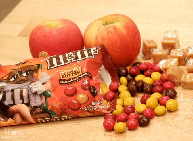 Fall apple recipe with peanut butter m&m's