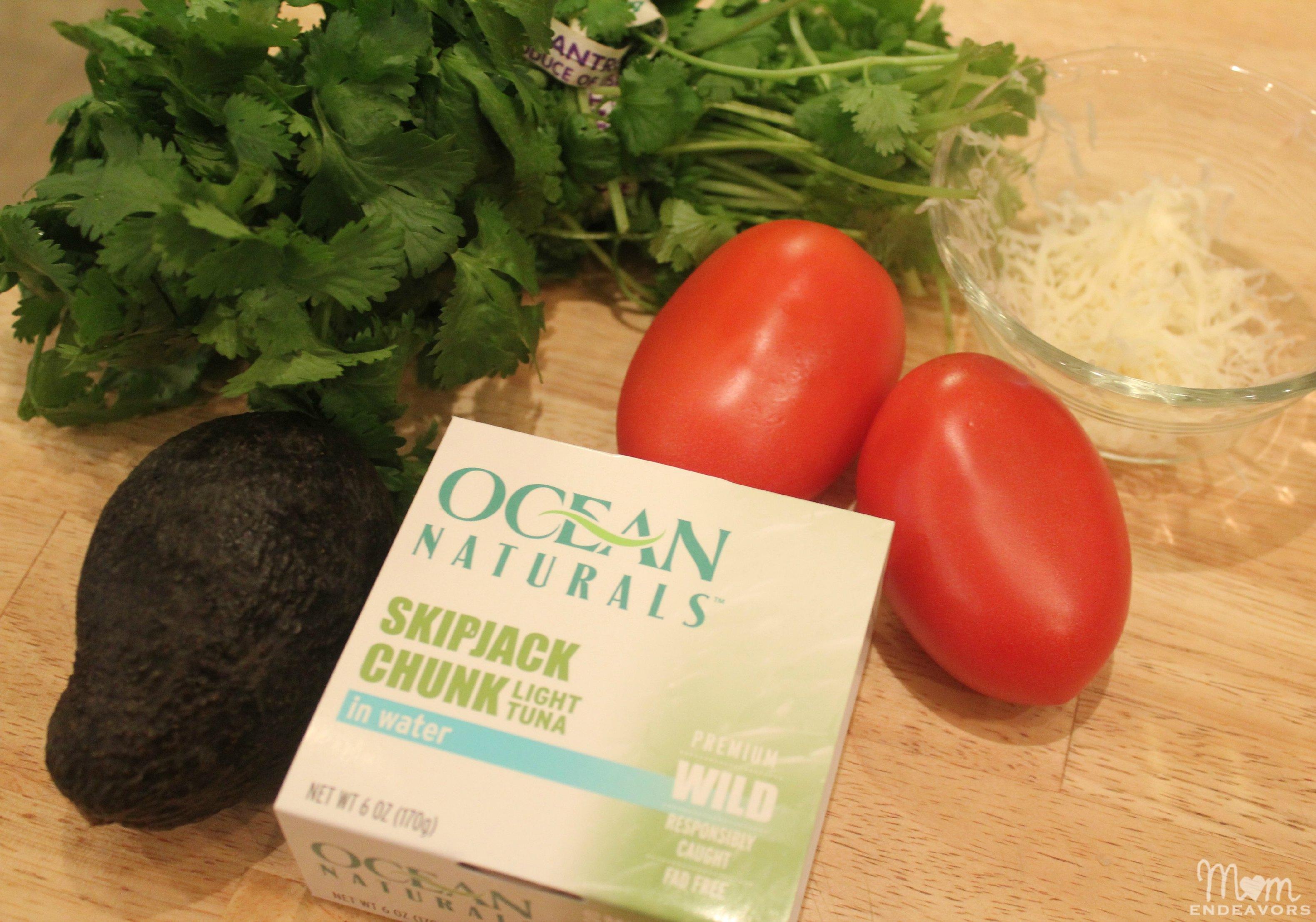 Fresh Tuna Salad ingredients