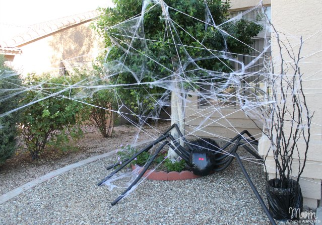 Giant DIY Spider in Spider Web