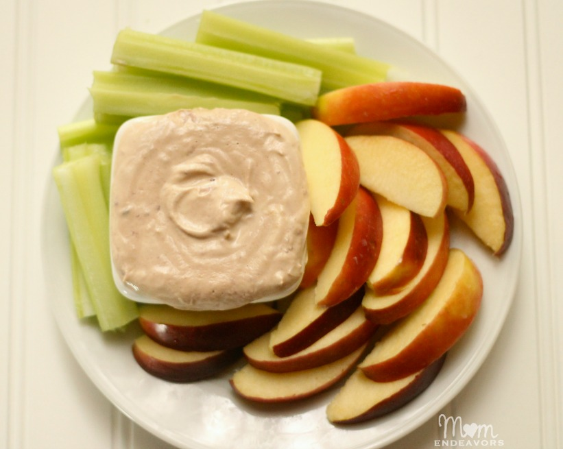 Healthy apple dippers snack