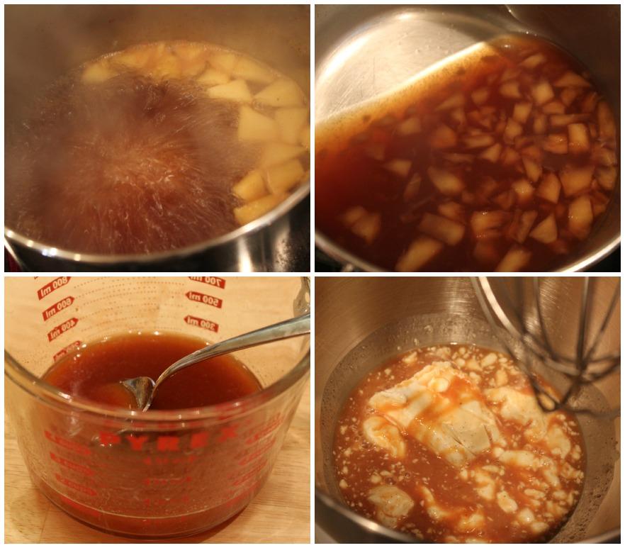 Making apple cider dip