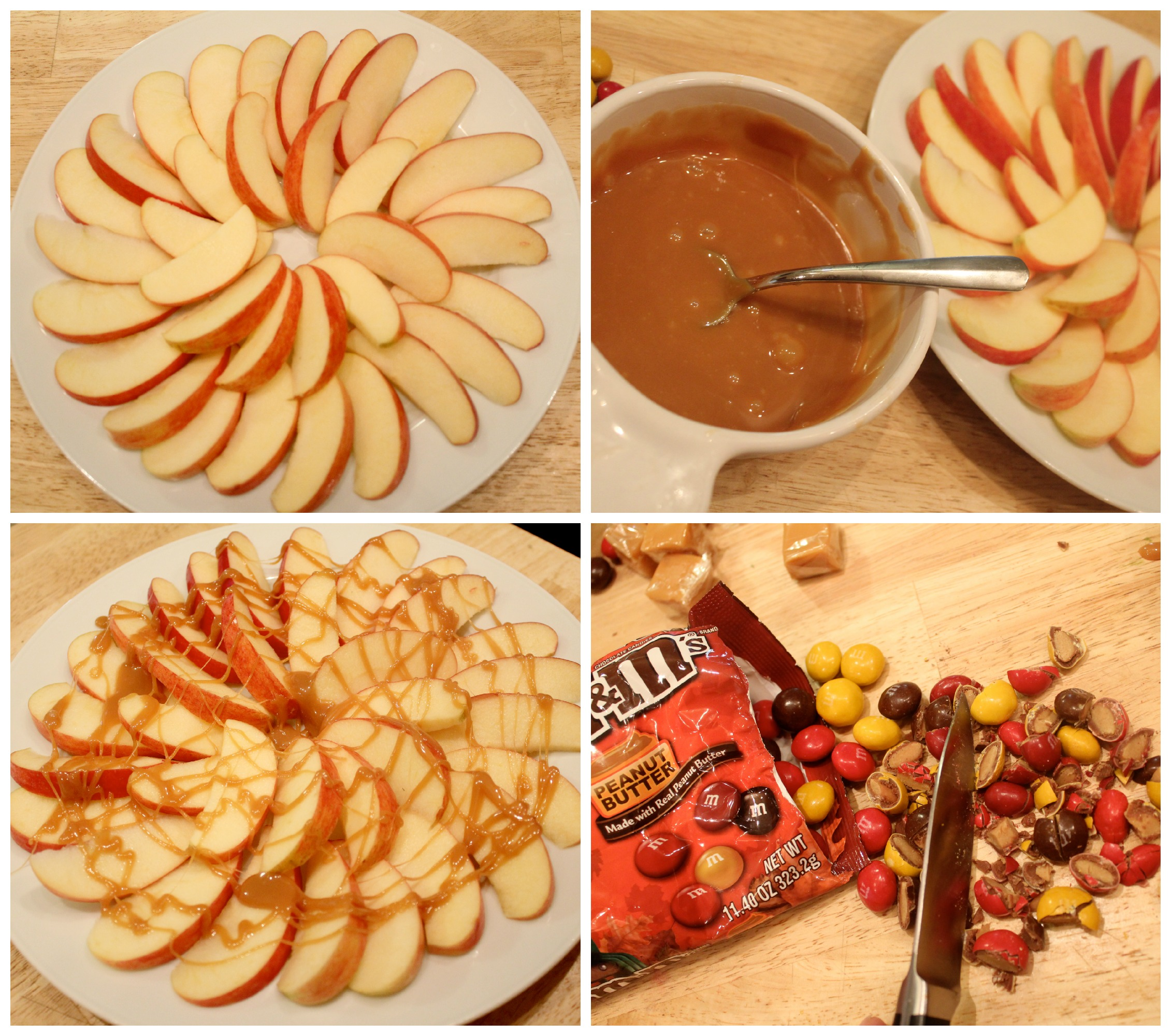 Making apple nachos