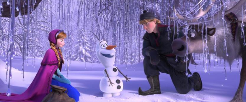 Anna, Olaf, & Kristoff in Disney's Frzoen