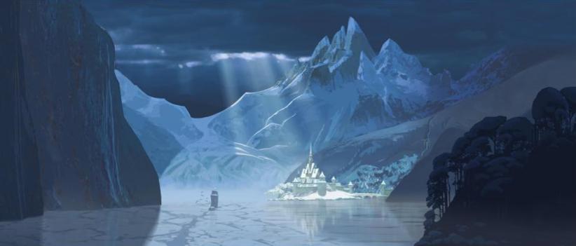 Disney's Frozen landscape