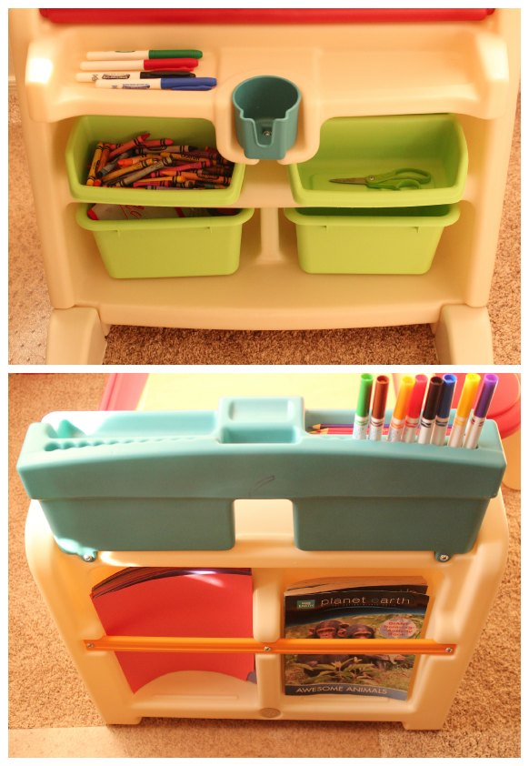 Groovy Step2 Flip Doodle Easel Desk With Stool Review Giveaway Bralicious Painted Fabric Chair Ideas Braliciousco