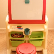Step2 Flip & Doodle Easel Desk with Stool {Review & Giveaway!!!}