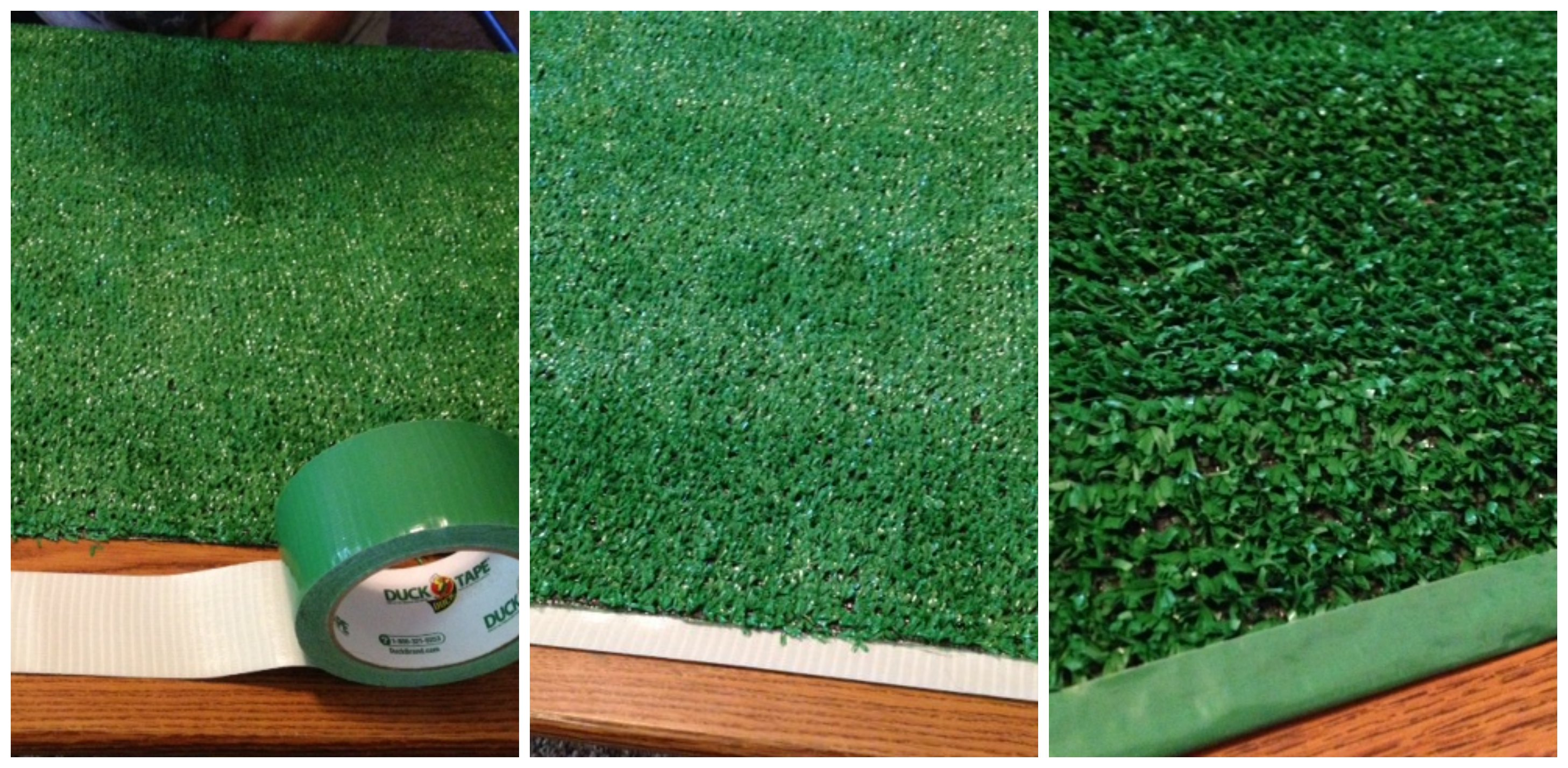 DIY Football Field Table Cover College Football Tailgate Party