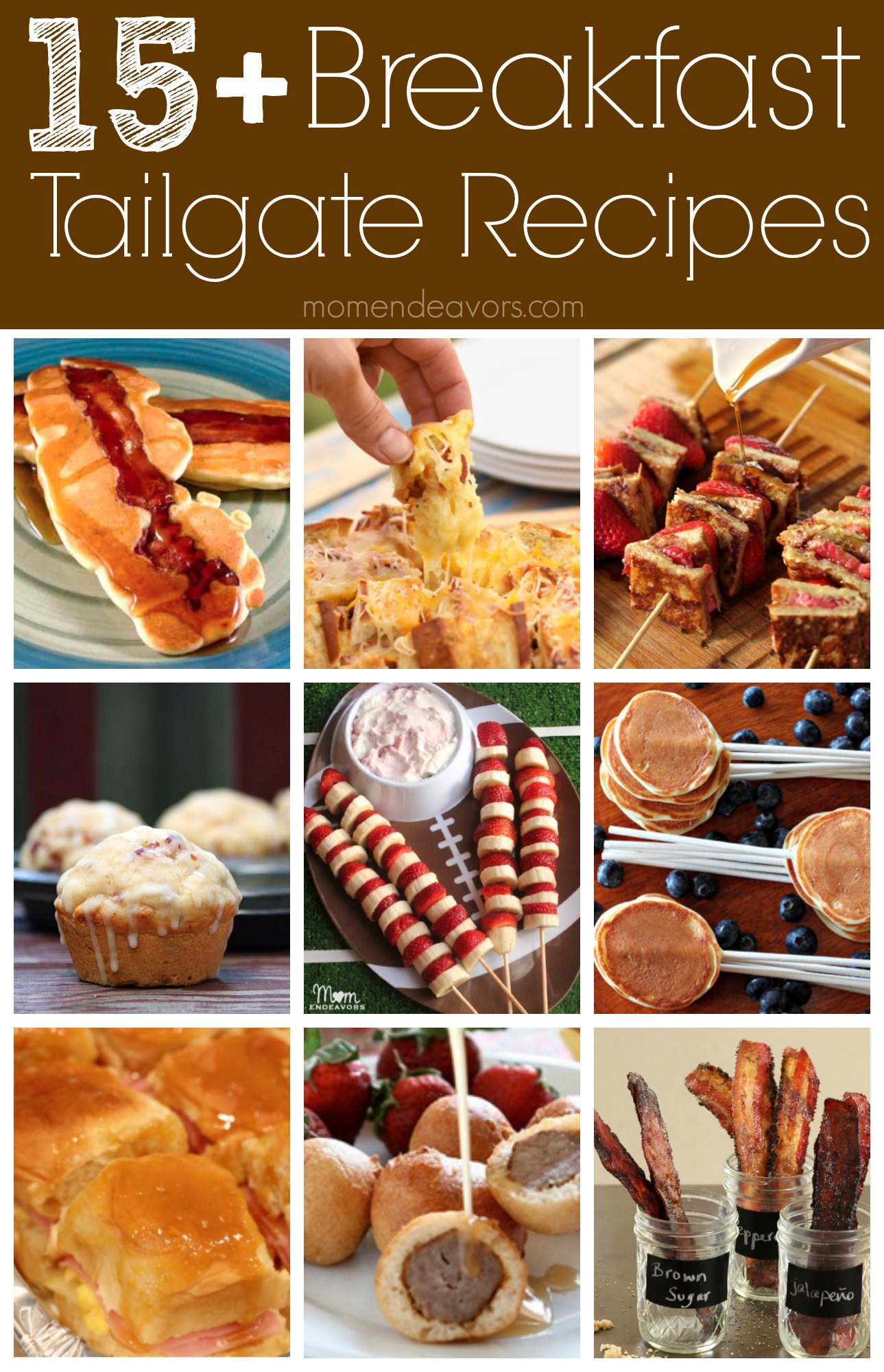 Fun breakfast tailgate recipe ideas college football for Easy tailgating recipes for a crowd