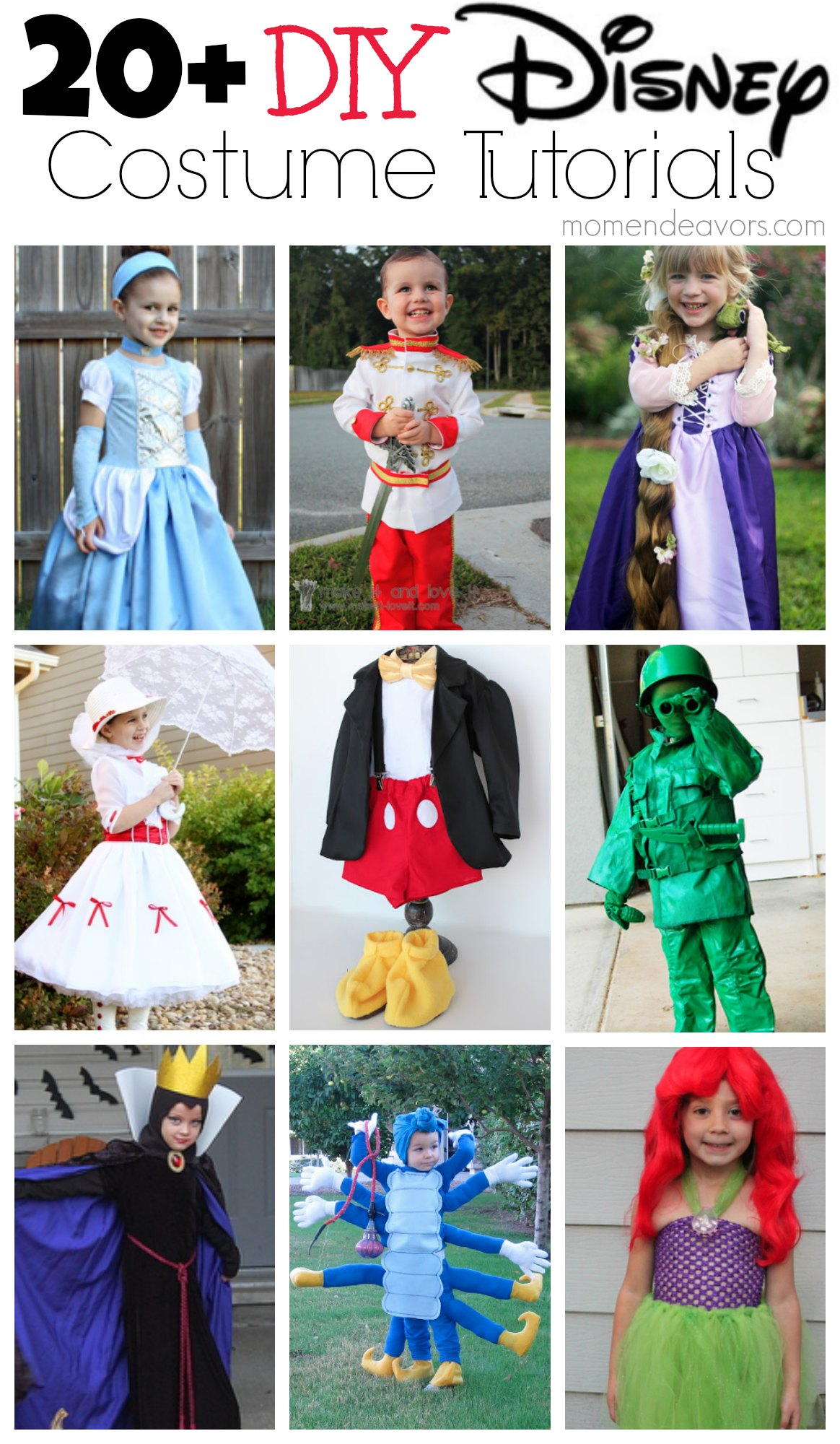 20+ DIY Disney Costume Tutorials  sc 1 st  Mom Endeavors : disney princess halloween costumes diy  - Germanpascual.Com