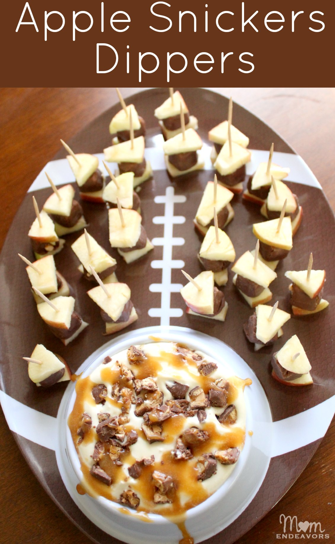 Apple Snickers Dippers #GameDayBites