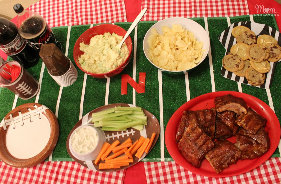 At-home football tailgating party