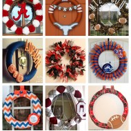 15+ DIY Football Team Spirit Wreaths {College Football Tailgate Link Party}