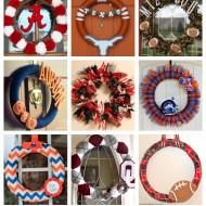 15+ DIY Football Team Spirit Wreaths {College Football Tailgate Link Party}