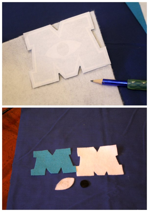 DIY Monsters U letters