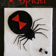 Easy Felt DIY Spider Decor (& learning activity) #EEKologist