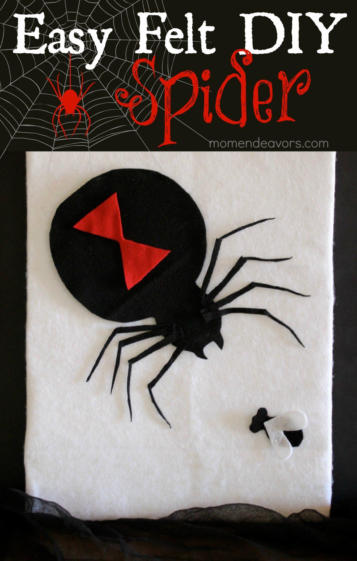 Easy DIY Felt Spider Decor