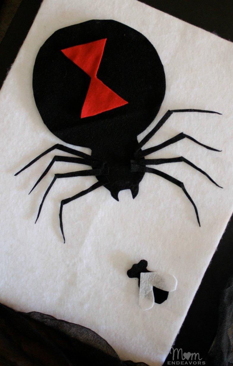 Felt black widow spider