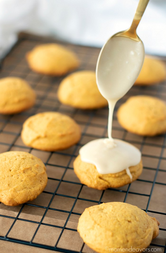 Pumpkin Cookies with Frosting