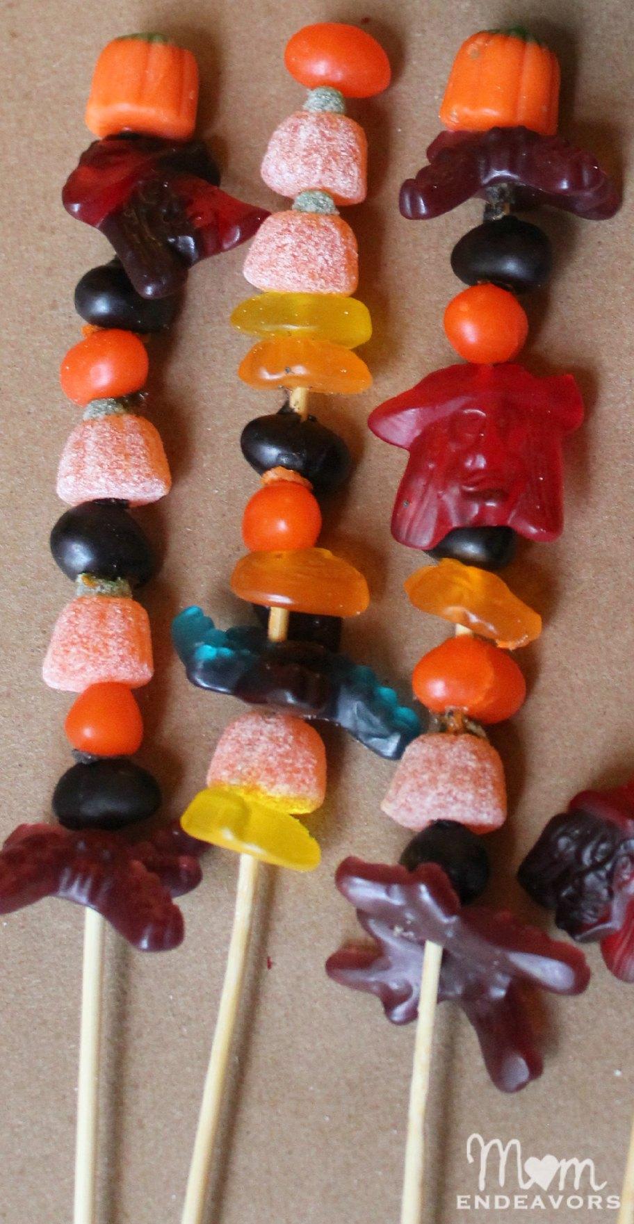 Gummy Haloween Candy Kabobs