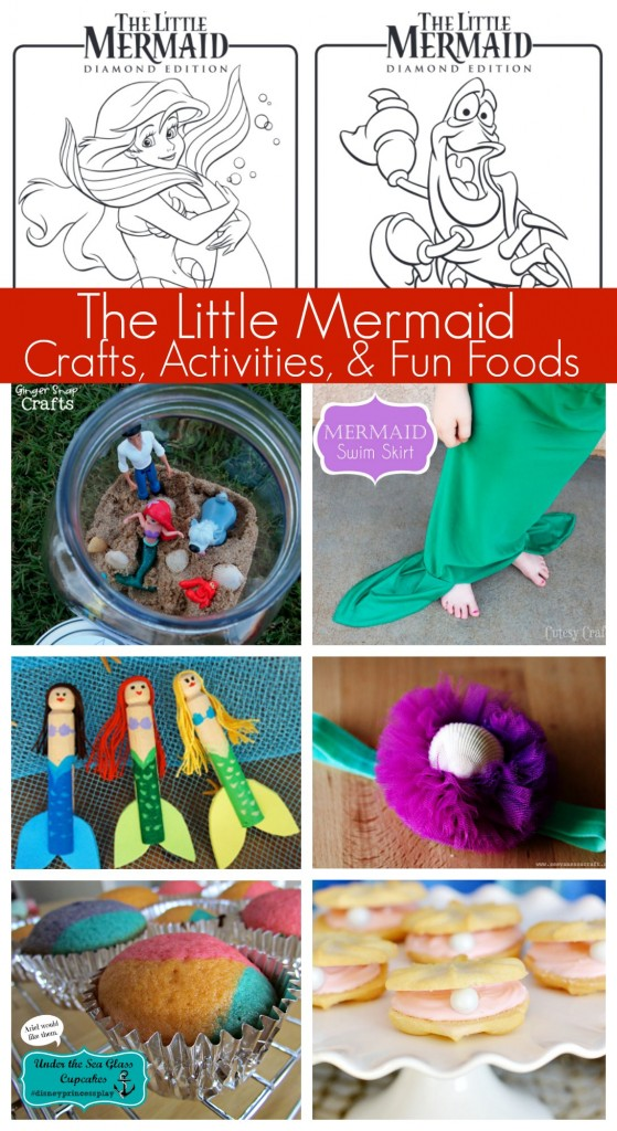 Little Mermaid Crafts, Activities, and Fun Foods