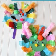 Paper Plate Monster Puppets Preschool Learning Craft