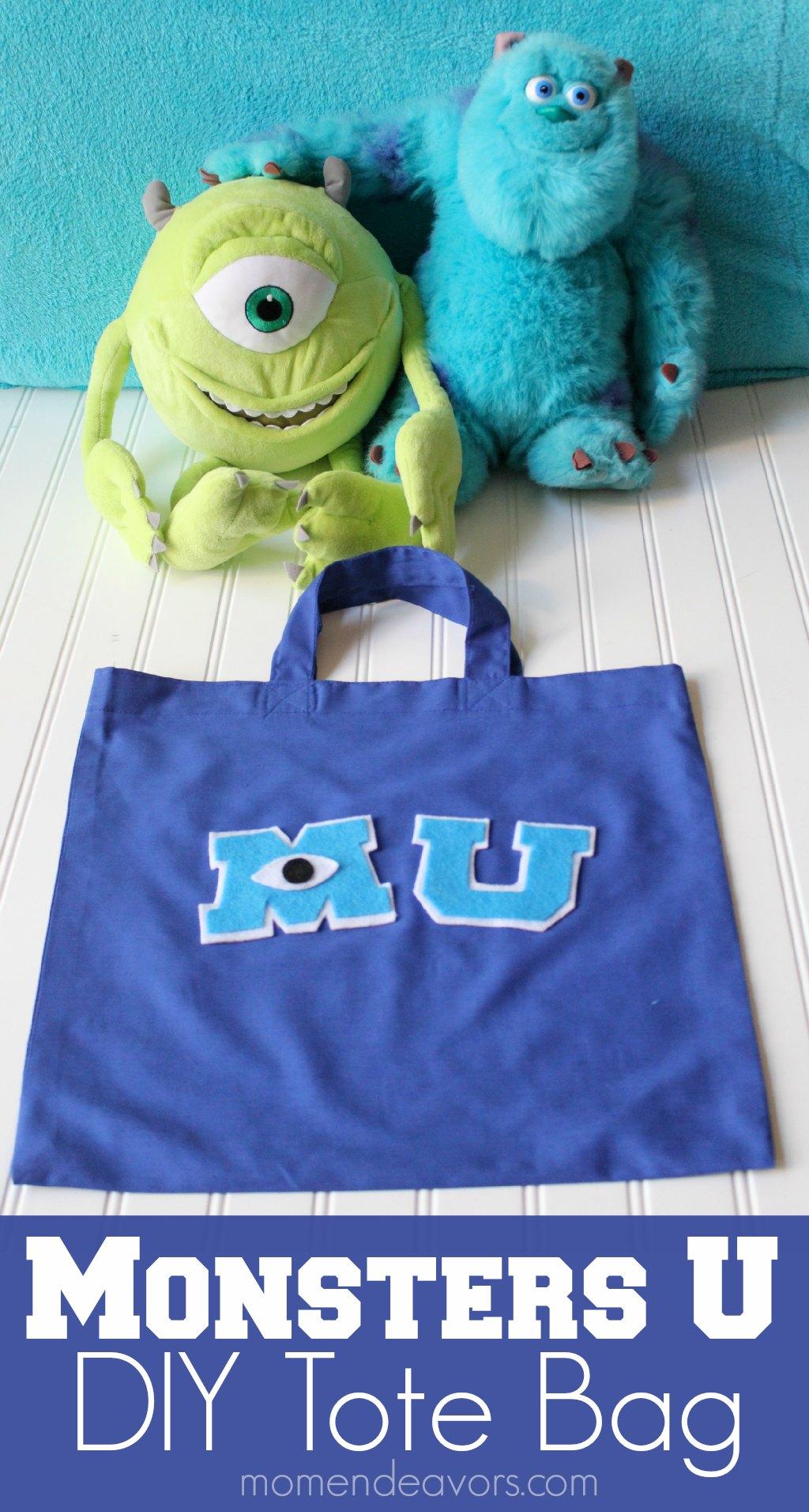 Monsters University DIY Tote Bag #MonstersU