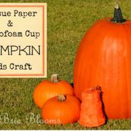 Kids Craft: Styrofoam Cup Pumpkin
