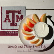Simple Fruit Dip – Perfect for Tailgating {College Football Tailgate Link Party}