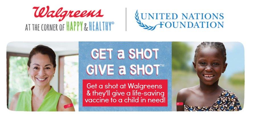 Walgreens Get a Shot, Give a Shot campaign