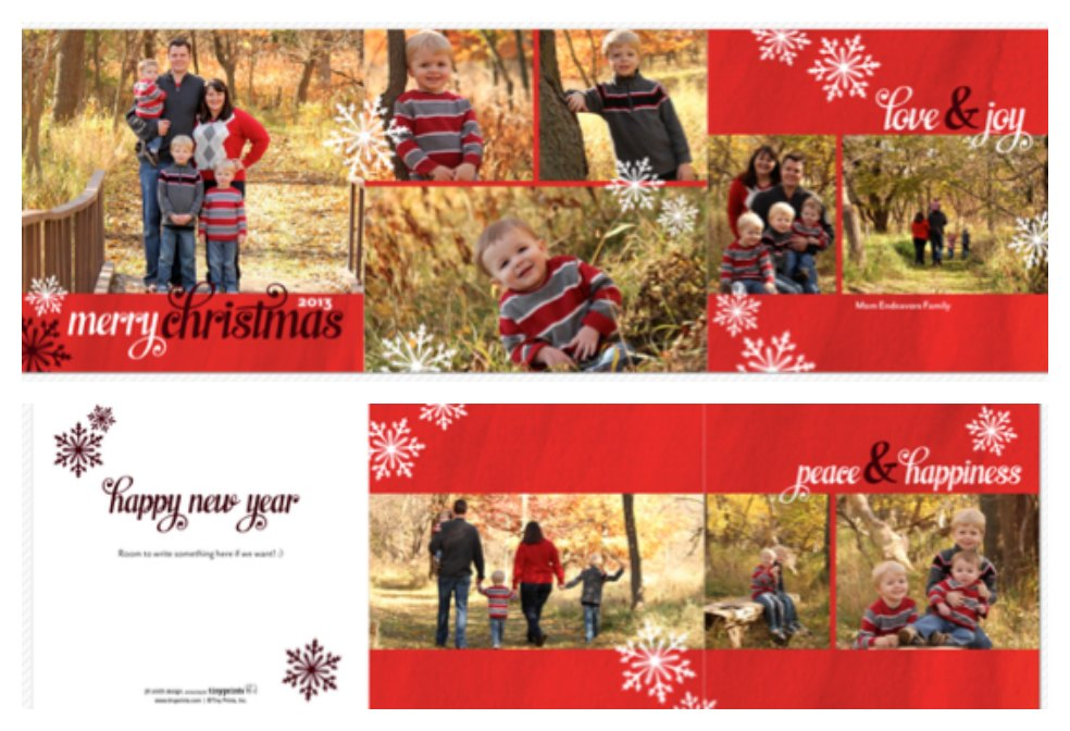 Christmas card layout2