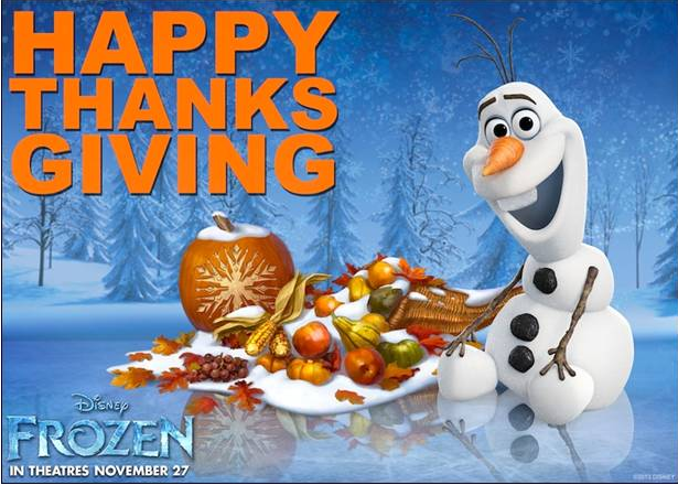 Disney FROZEN Happy Thanksgiving