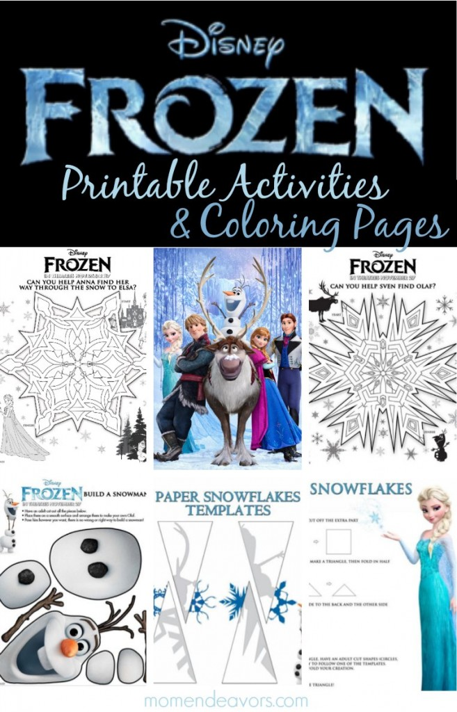Disney FROZEN Printable Activities & Coloring Pages - Mom Endeavors