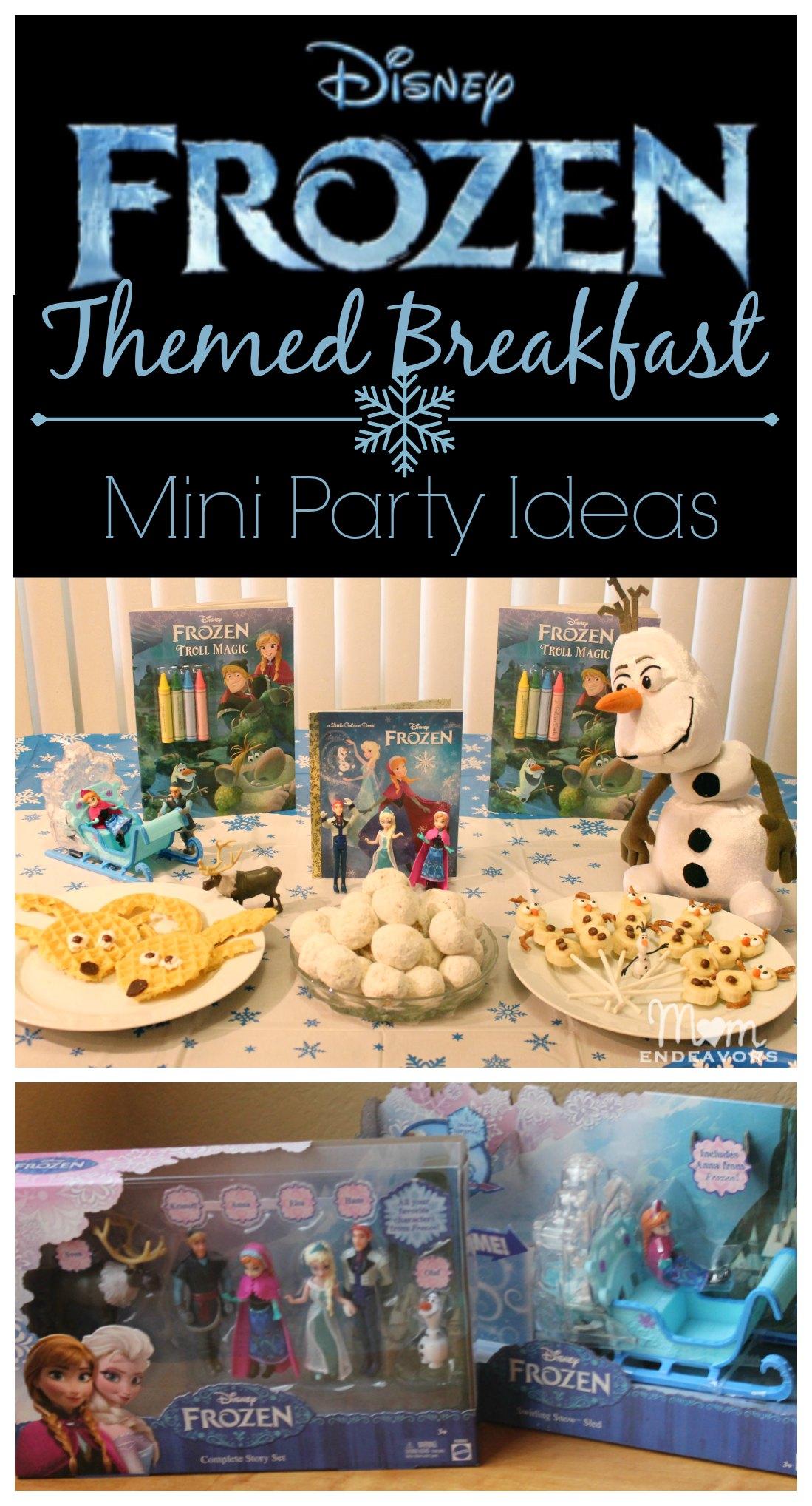 Disney Frozen Themed Breakfast & Mini Party Ideas