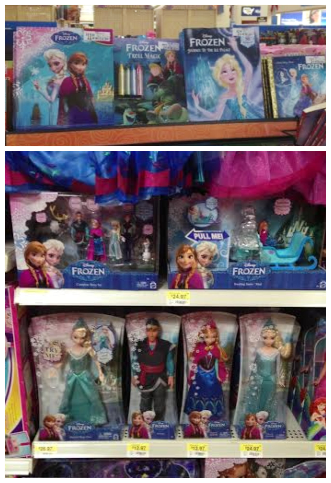 Disney Frozen toys at Walmart