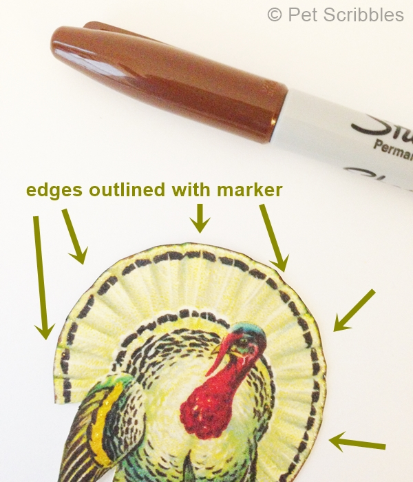Edges outlined in marker