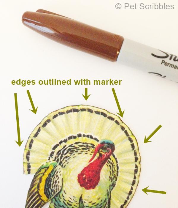 Edges outlined in marker