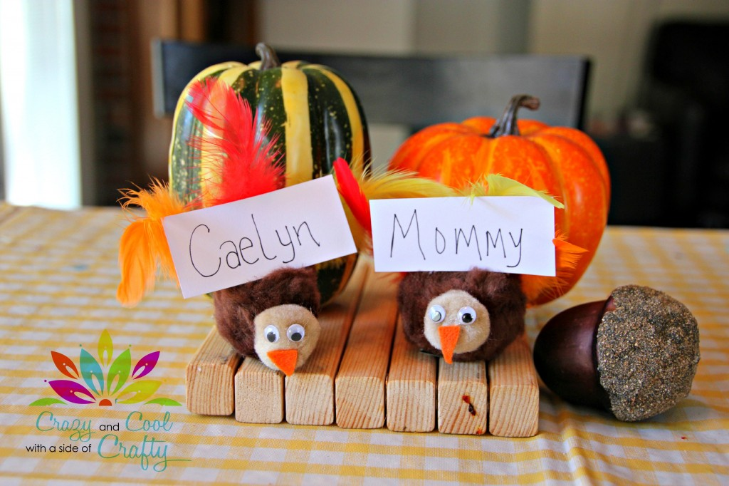 Finished Turkey Place Card Holders by CrazyCoolCrafty