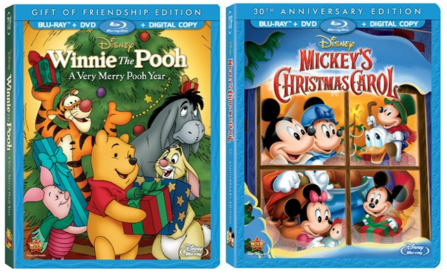 Mickey's Christmas Carol and Winnie The Pooh A Very Merry Pooh Year